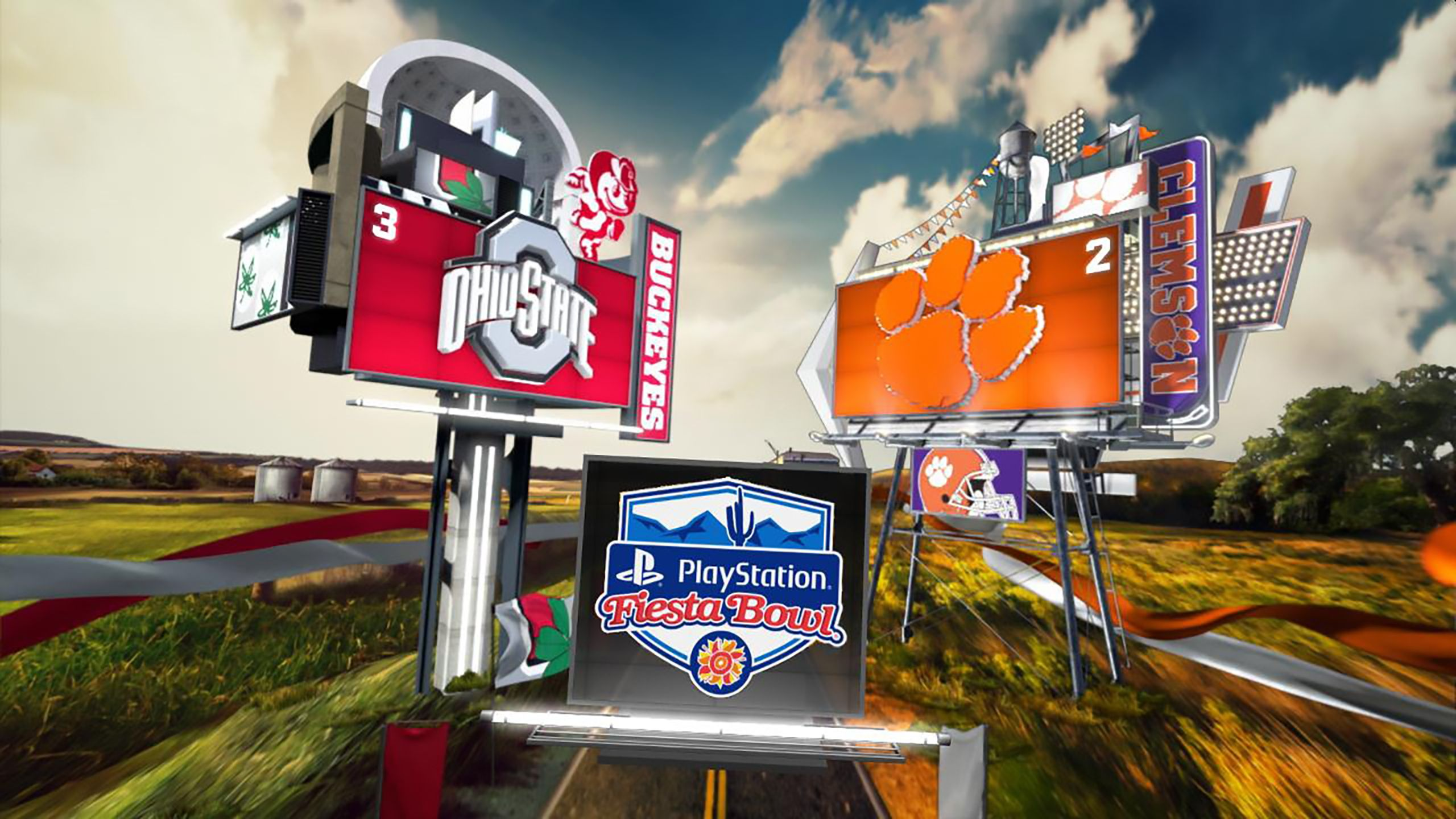 #3 Ohio State vs. #2 Clemson (Semifinal) (Playstation Fiesta Bowl) (re-air)