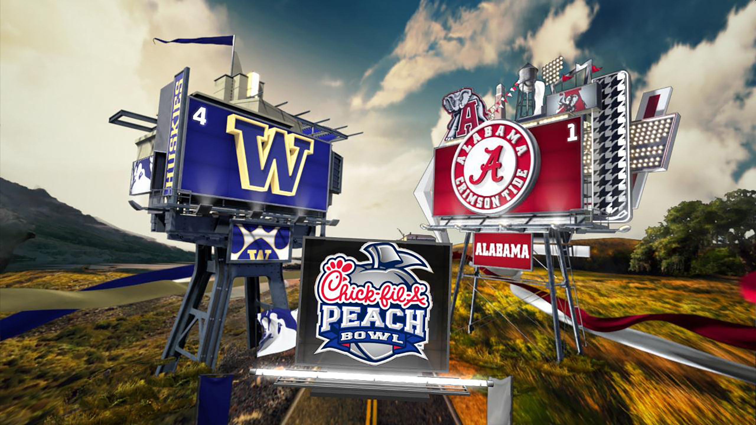 #4 Washington vs. #1 Alabama (Semifinal) (Football) (re-air)