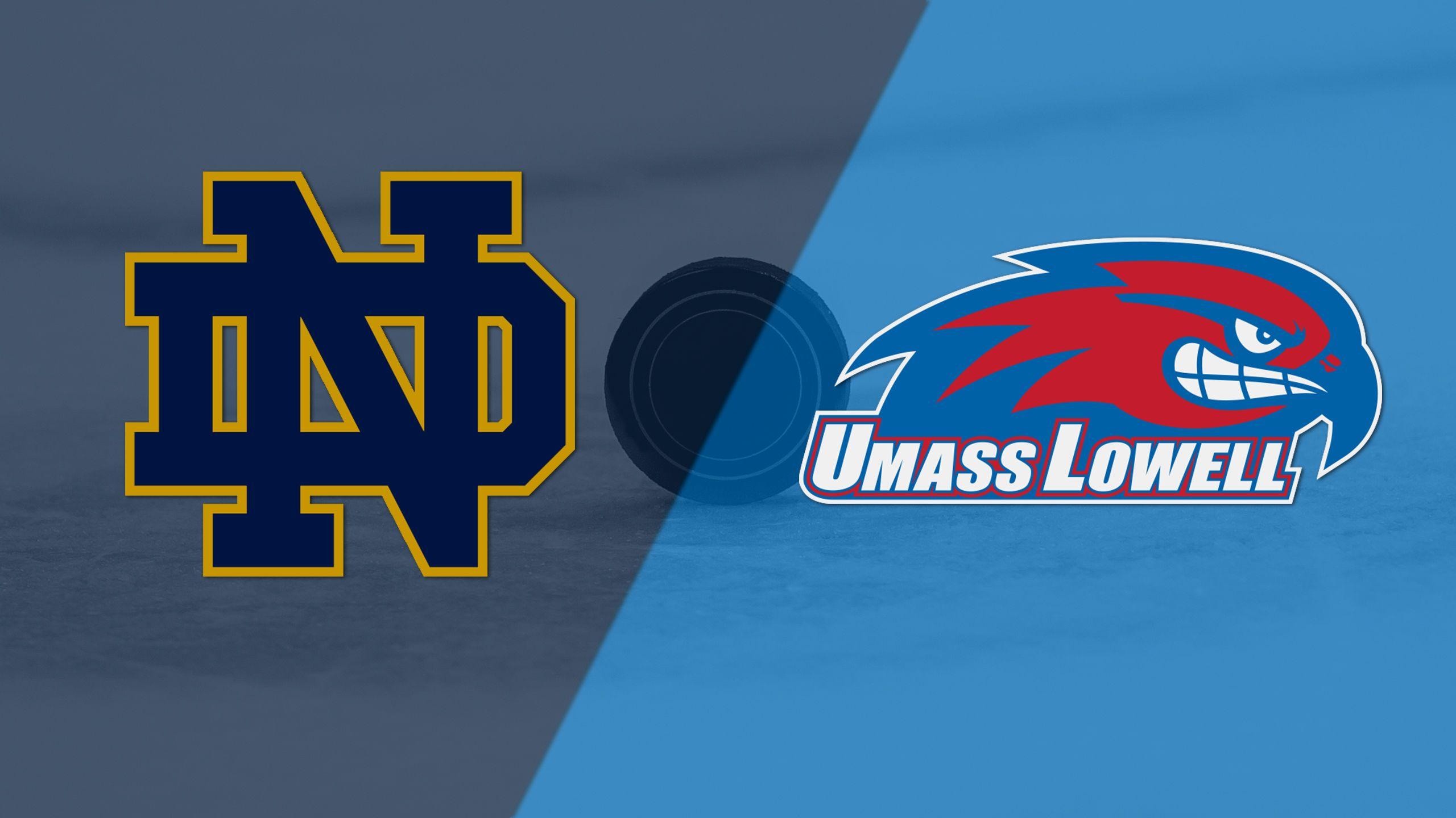 #9 Notre Dame vs. #5 Massachusetts-Lowell (Semifinal #1) (Hockey East Men's Tournament)