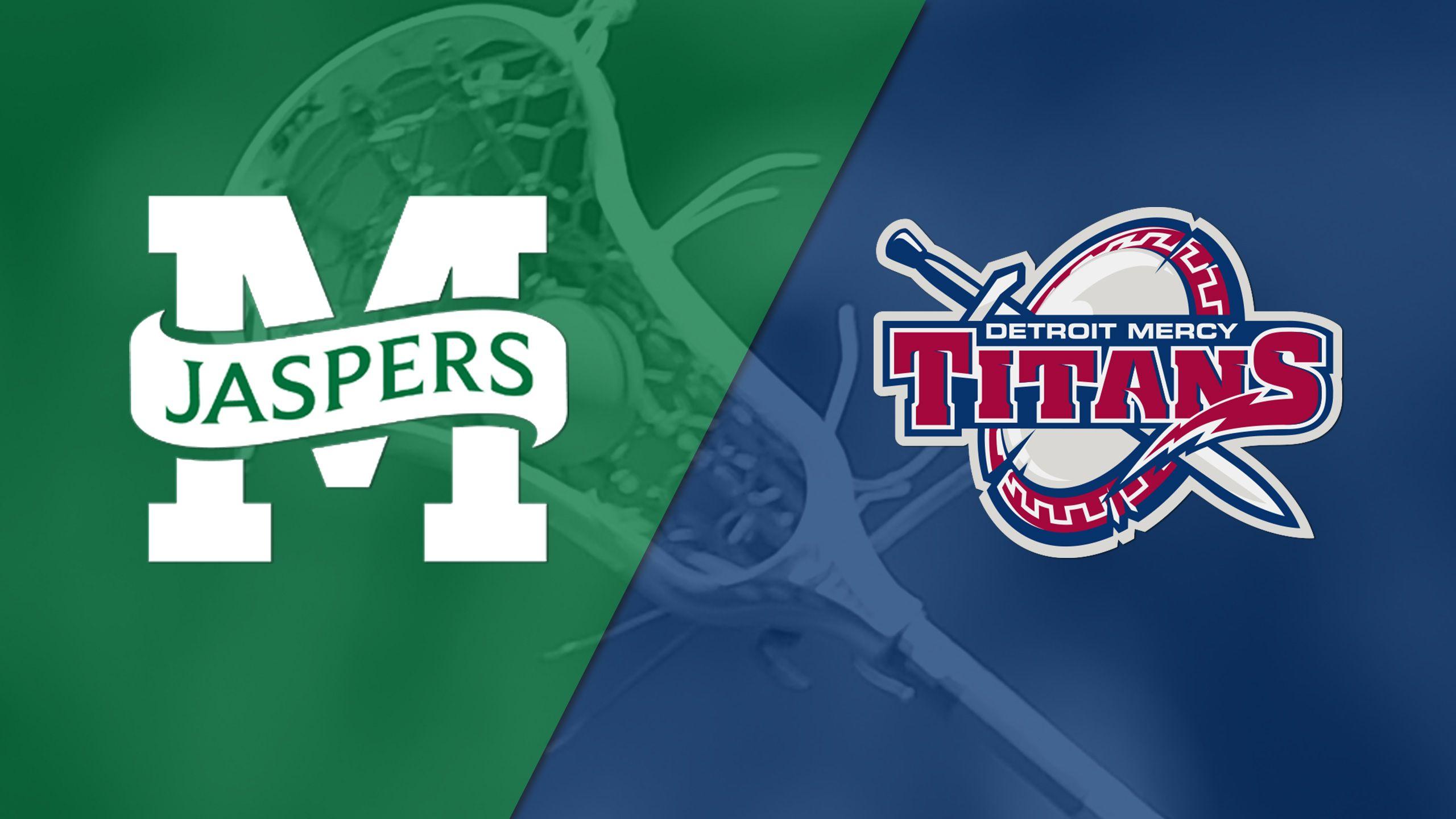 Manhattan vs. Detroit Mercy (M Lacrosse)