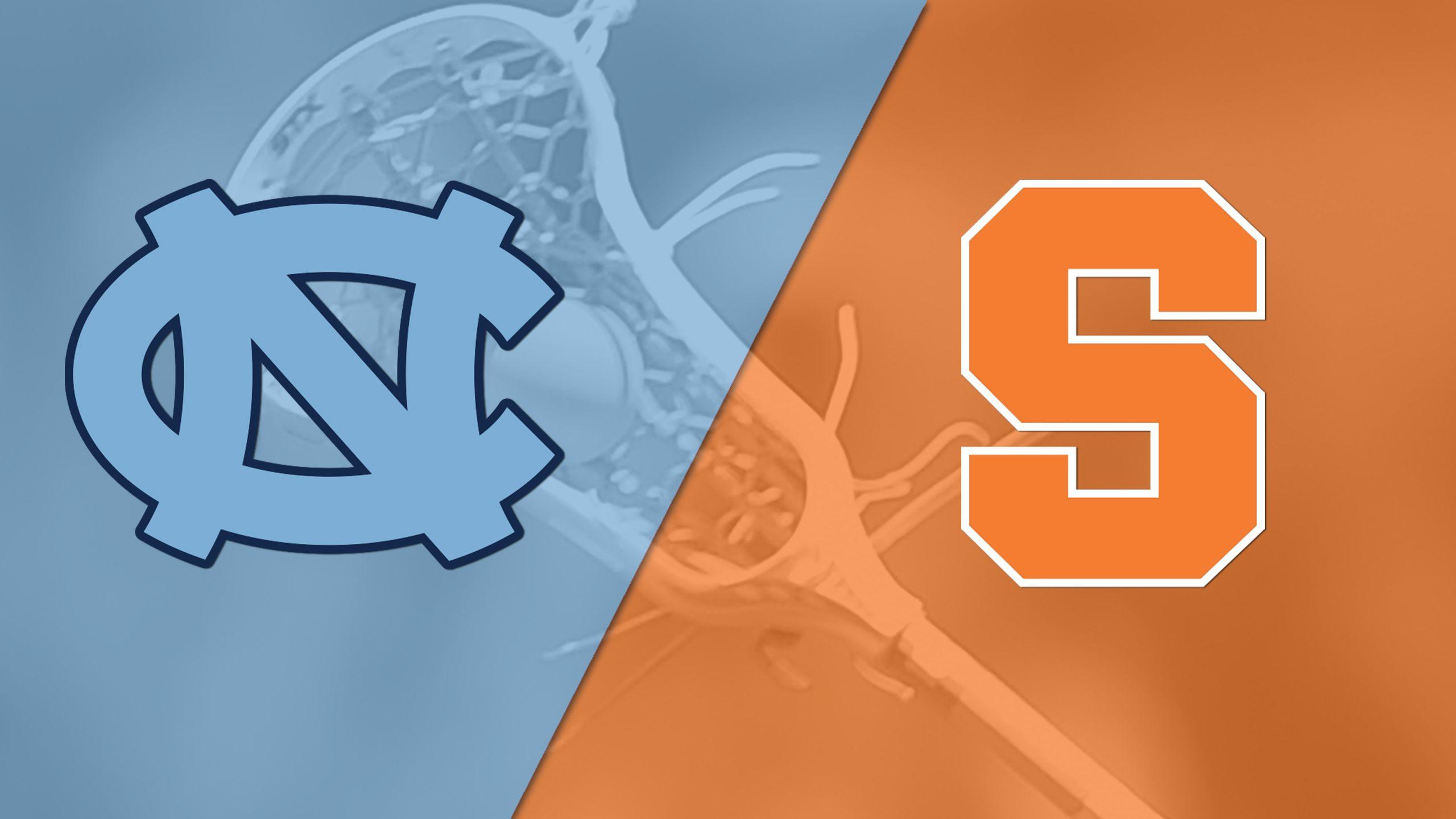 #20 North Carolina vs. #1 Syracuse (Semifinal #1) (ACC Men's Lacrosse Championship)