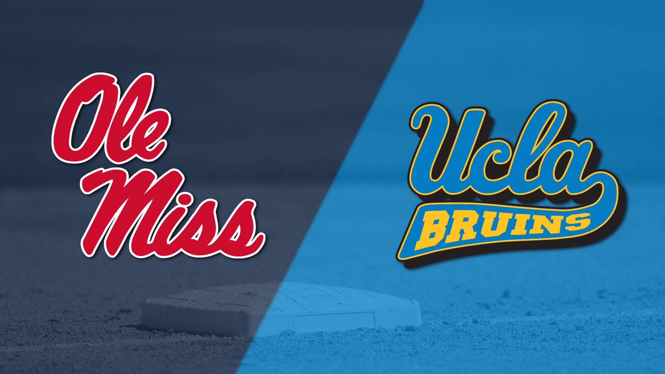 #12 Ole Miss vs. #5 UCLA (Site 2 / Game 1) (NCAA Softball Championship)