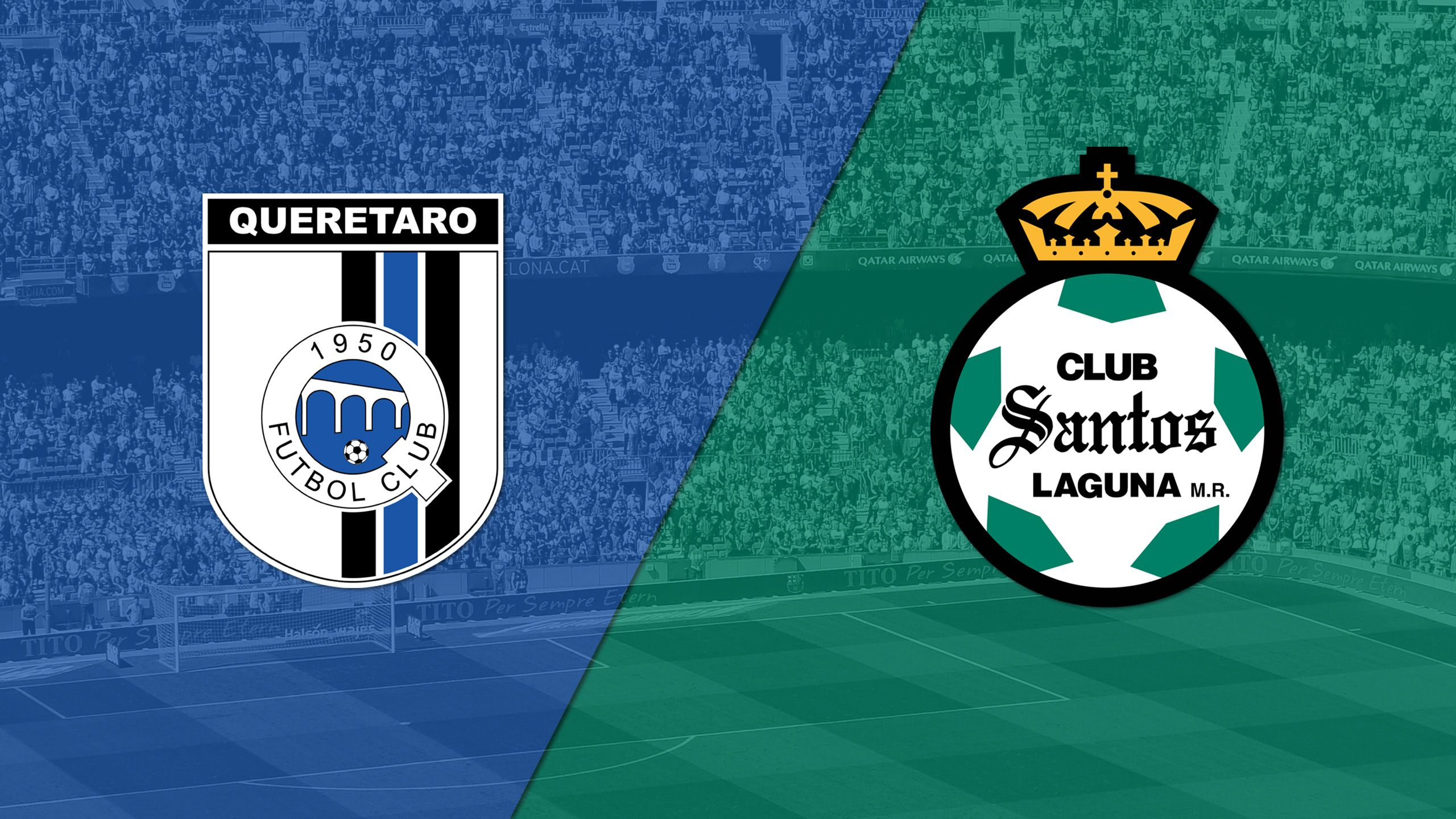 In Spanish - Querétaro vs. Santos Laguna (Matchday #14) (Liga MX)