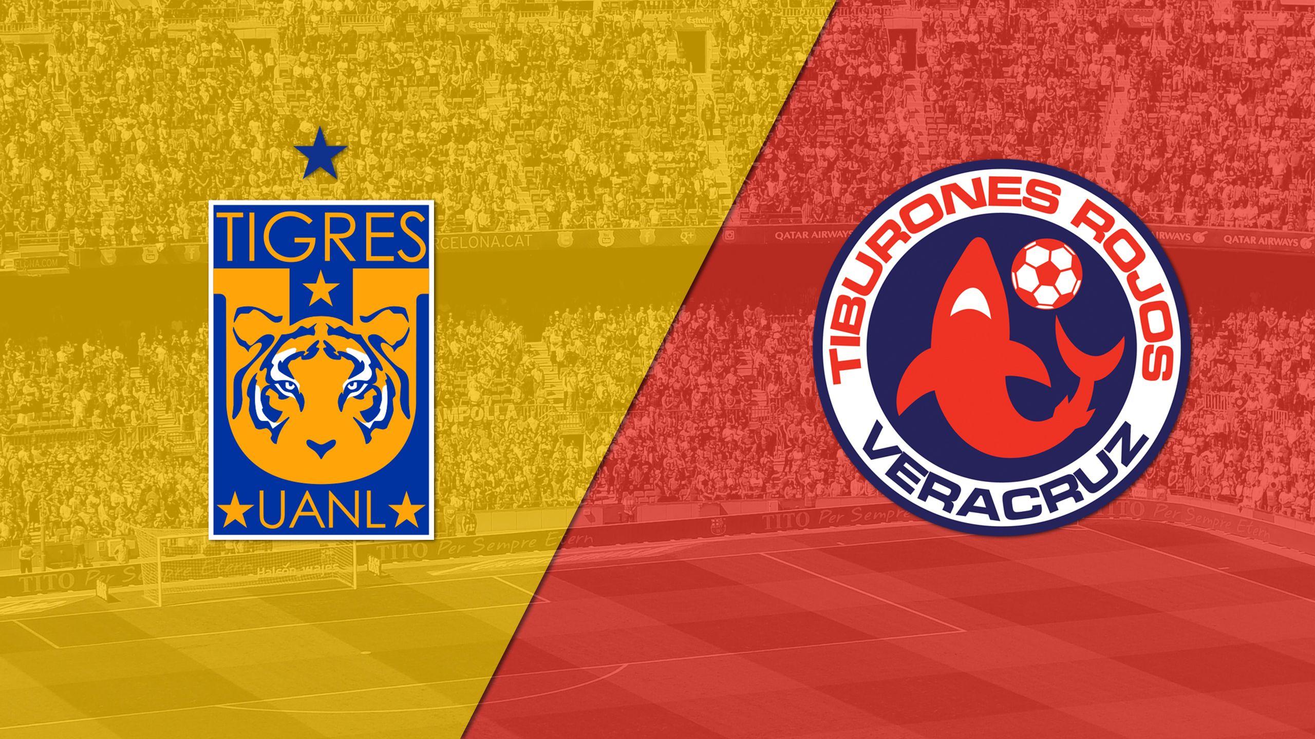 In Spanish - Tigres UANL vs. Tiburones Rojos de Veracruz (Matchday #10) (Liga MX)