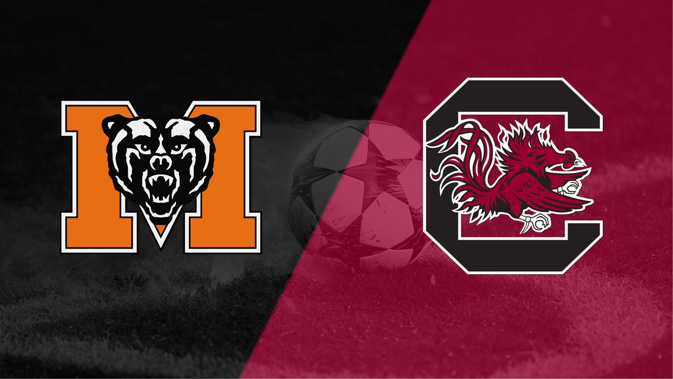 Mercer vs. South Carolina (First Round) (NCAA Men's Soccer Championship)