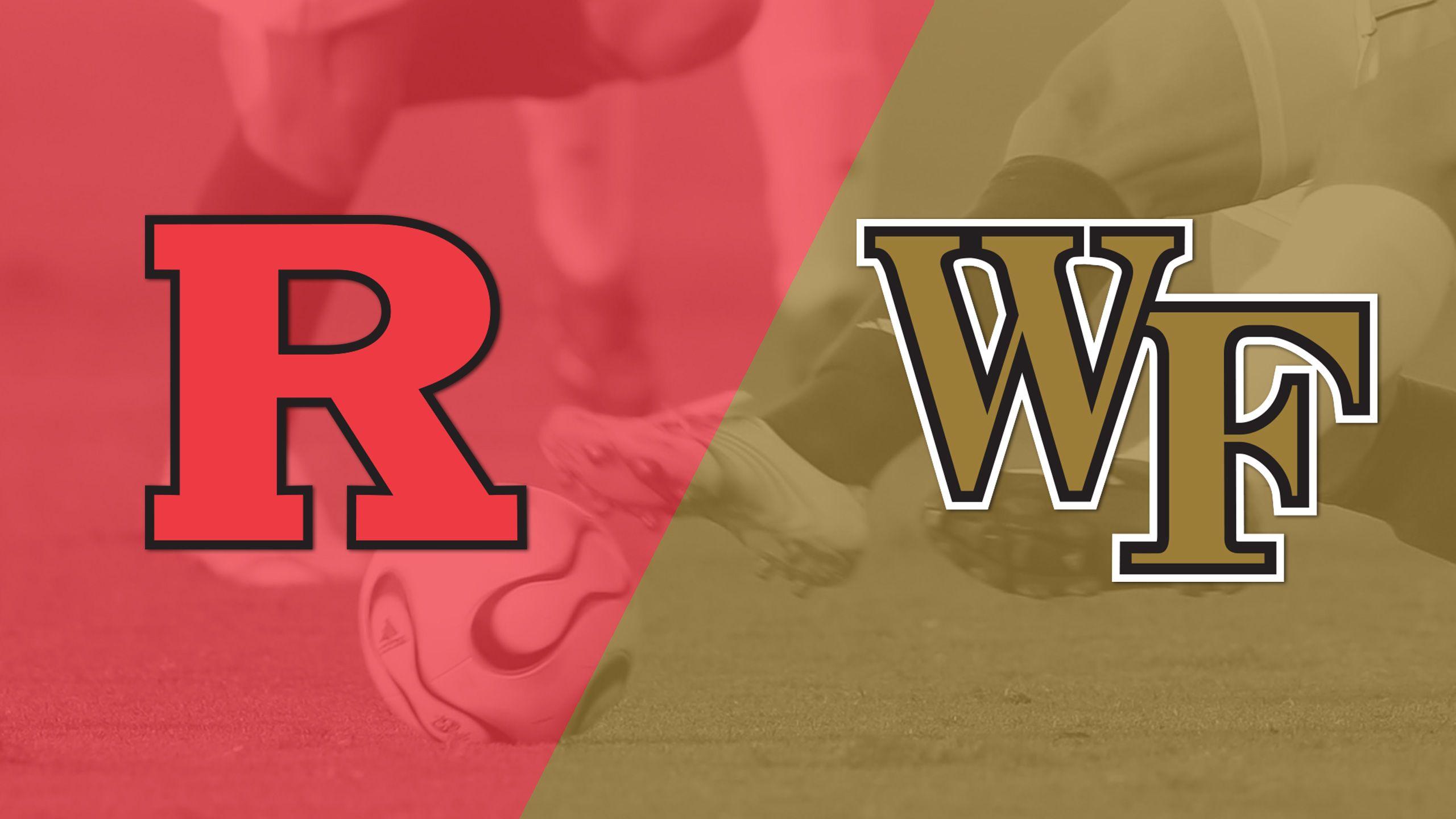 Rutgers vs. Wake Forest (M Soccer)