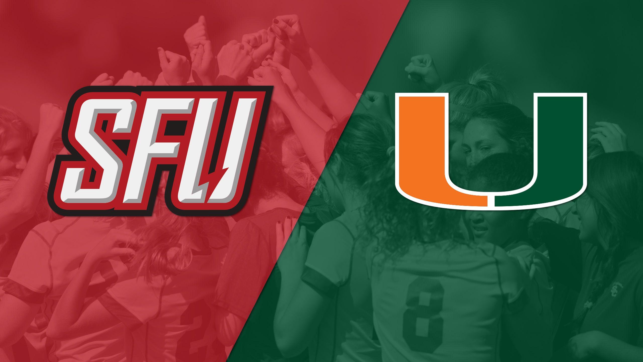 Saint Francis (PA) vs. Miami (W Soccer)