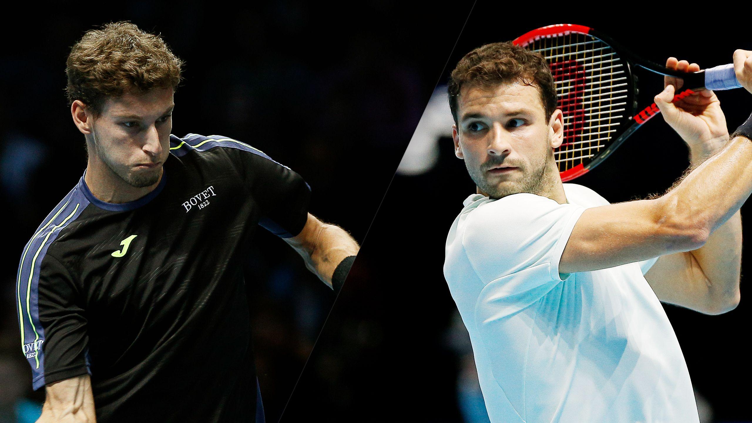 P. Carreno Busta vs. G. Dimitrov - Nitto ATP Finals (Round Robin)