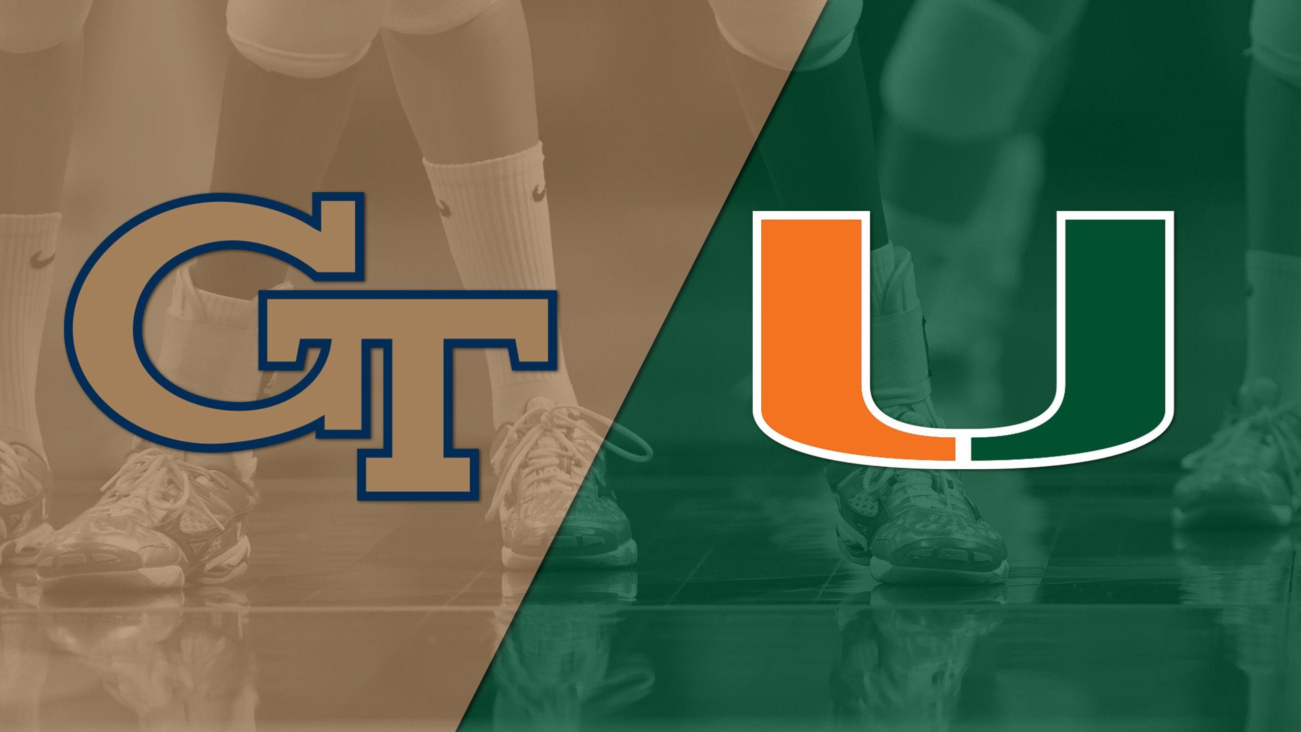 Georgia Tech vs. Miami (W Volleyball)
