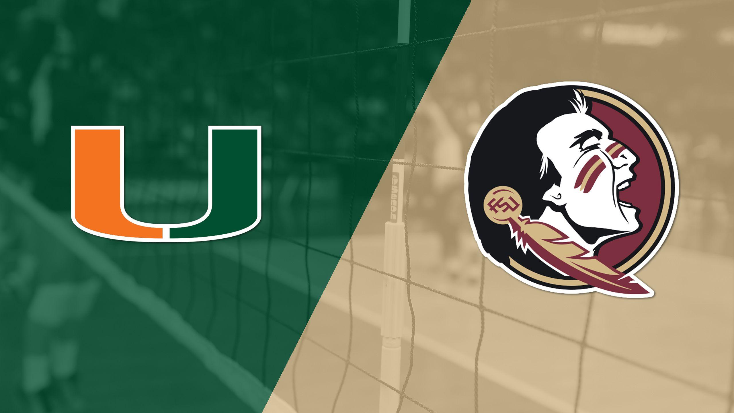 Miami vs. #21 Florida State (W Volleyball)