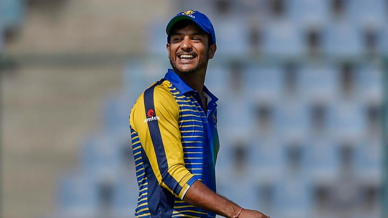 Mayank Agarwal 'in the queue' for national call-up - chief selector