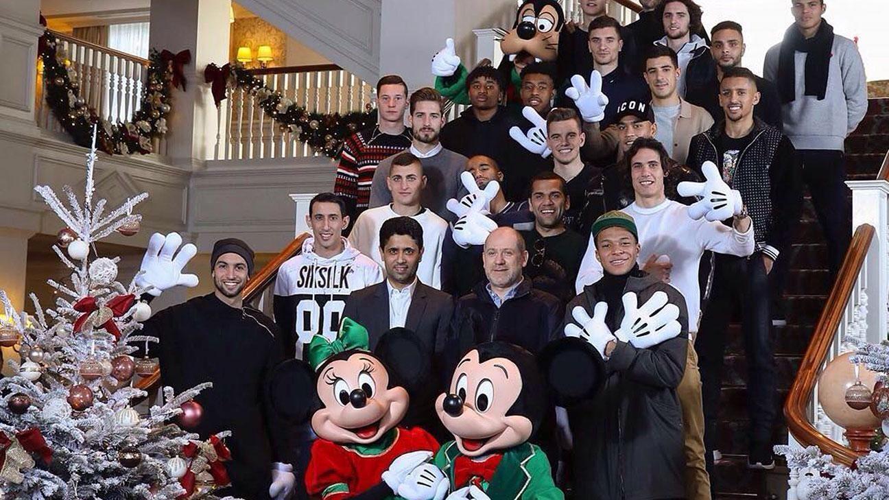 Los jugadores de PSG estuvieron en Euro Disney - ESPN Video