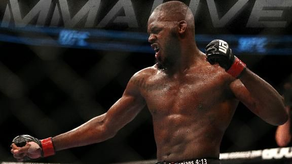 Jon Jones taken down, still wins