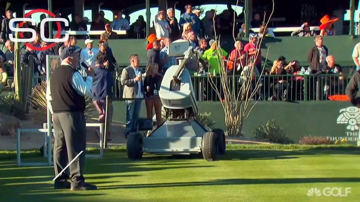 Eldrick The Robot sinks hole-in-one on fifth swing - ESPN Video