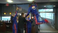 The Globetrotters posterize ESPN employees ... and legends