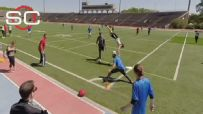 Is this the most athletic kickball play of all time?
