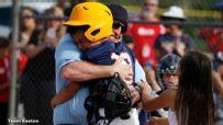 Marine disguises himself as umpire to surprise kids