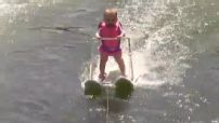 Six-month-old baby on water skis will blow your mind
