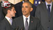 Obama hosts, honors Villanova