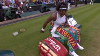 Serena hits cameraman with racket toss