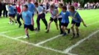 Sixth grader with Down syndrome outraces classmates for top play