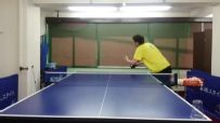 A pingpong serve you have to see to believe