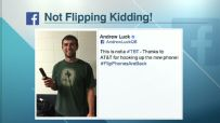 Andrew Luck flashes back to high school with new flip phone