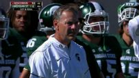 Mark Dantonio seems to disappear from the sideline
