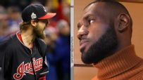 LeBron pleased with Miller's strikeout to end seventh