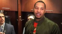 Melo frustrated when asked about Phil Jackson's comments