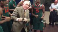 Larranaga dances after Miami's win