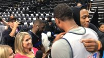 George moves media scrum out of Westbrook's way
