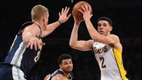 Lonzo records second triple-double in rout of Nuggets