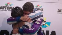 Emotional Wallace embraces family after Daytona debut