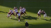 Mond throws strike for TD in spring game