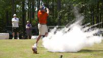 Swinney pranks Mullen with exploding golf ball