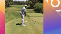 Tiger 'drops the mic' after drive challenge