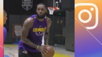 LeBron gets in his first workout as a Laker