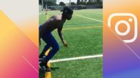 Subban shows off football skills with off-ice training