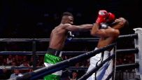 Boxer who had opponent leave ring wins by KO in return
