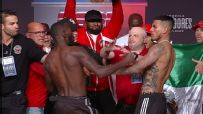 Crawford throws punch at weigh-in