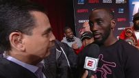 Crawford after throwing punch: 'He pushed me'