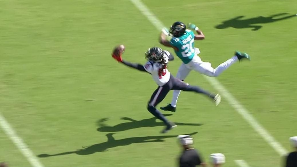 Image result for Deandre hopkins vs Ramsey one handed catch 2018