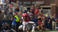 Ole Miss QB scrambles and finds WR in double coverage for 55-yard TD