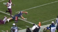 Offensive lineman takes handoff and dives for Pitt TD