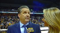 Calipari walks out on halftime interview as Mizzou fans heckle him