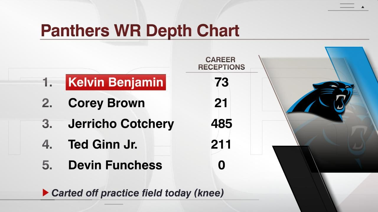 Panthers WR Depth Chart