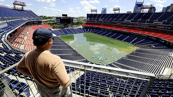Titans Lp Field Submerged By Flood Afc South Espn