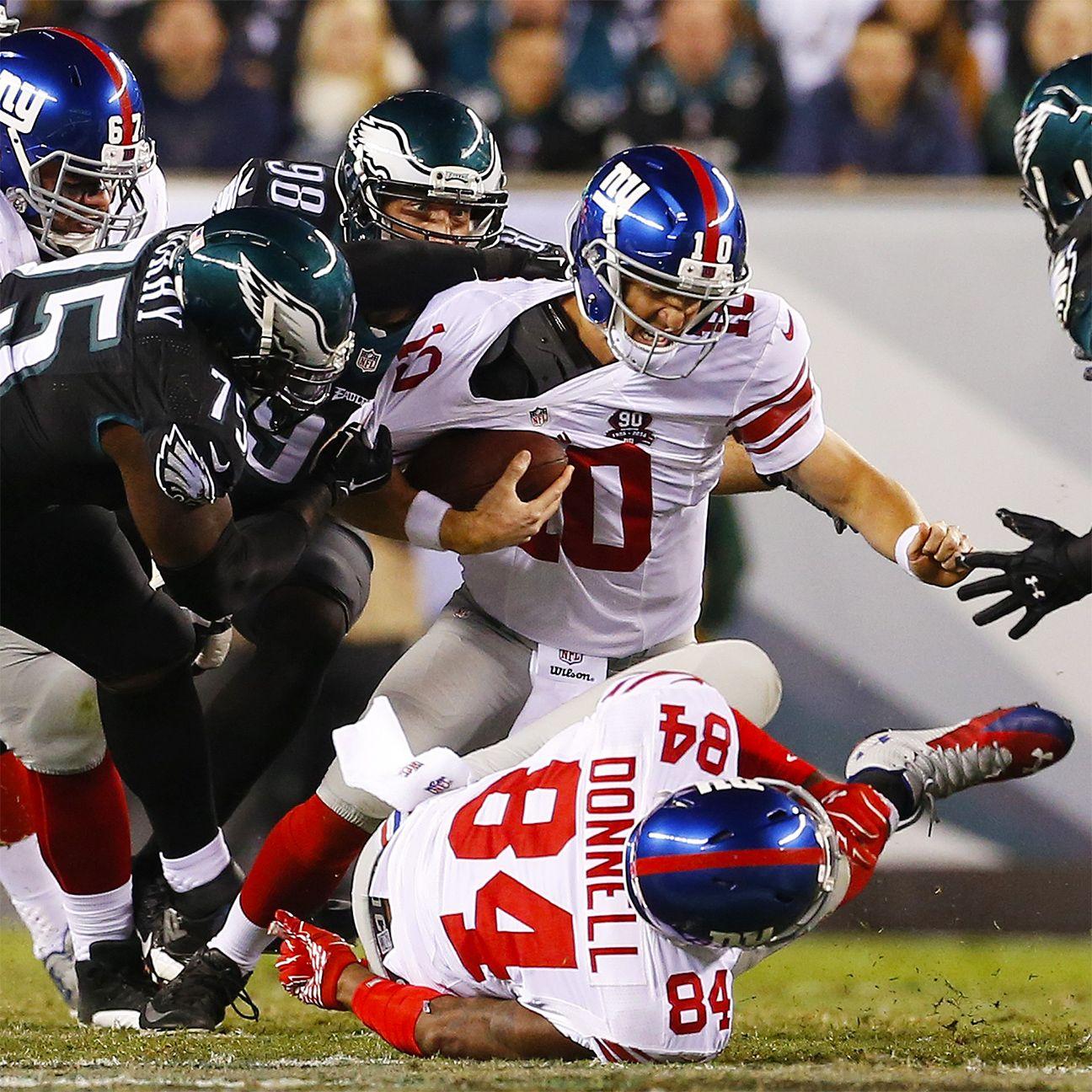 Jason Pierre Paul Stats: New York Giants' Offensive Line Crumbles Against