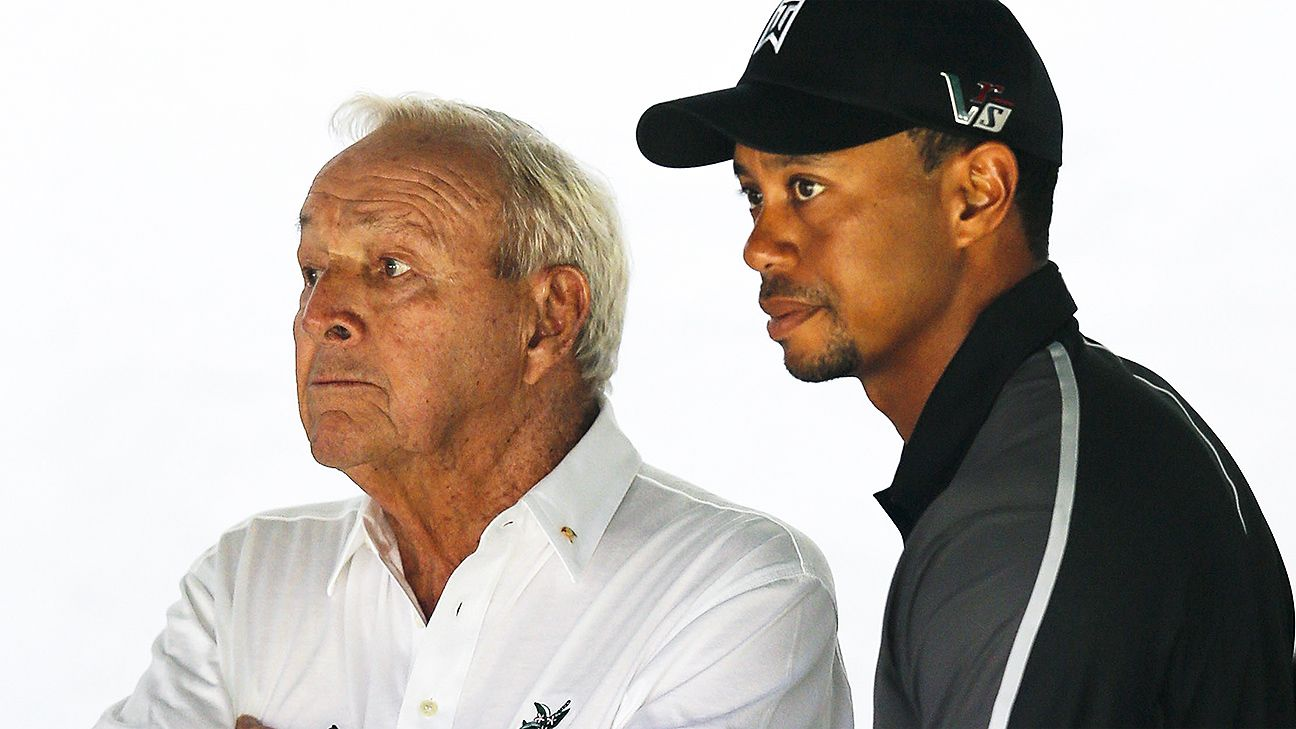 Arnold Palmer, Tiger Woods talk